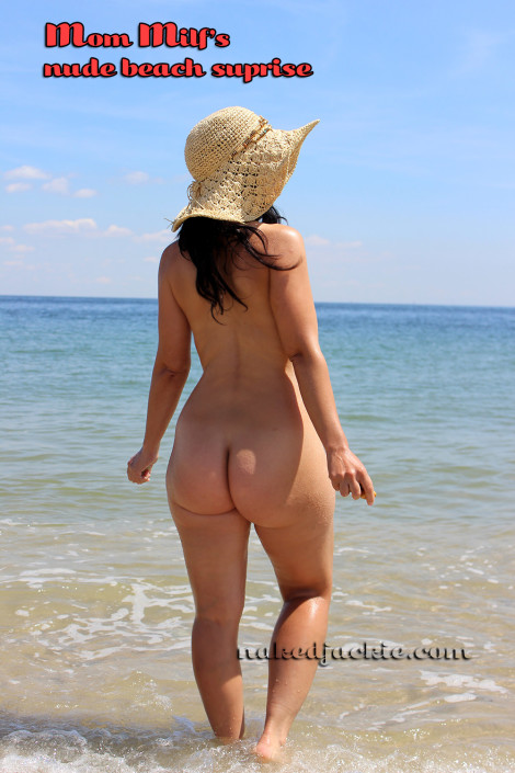Mom Milf Jackie Stevens at Nude Beach